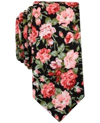 Bar Iii Men's Blossom Floral Tie Only At Macy's Black