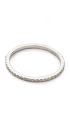 Ef Collection Diamond Eternity Stack Ring White Gold Clear