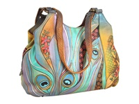 Anuschka 469 Dancing Peacock Handbags Multi