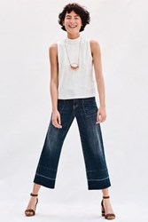 Anthropologie Pilcro Wide Leg Mid Rise Crop Jeans Dark Denim