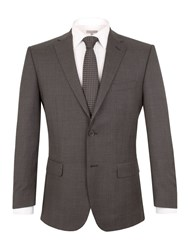 Pierre Cardin Check Regular Fit Suit Jacket Charcoal