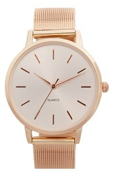 Women's Bp. Round Face Watch 33Mm Rose Gold