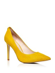 Moda In Pelle Cappi Stiletto High Heel Pointed Toe Court Shoes Yellow
