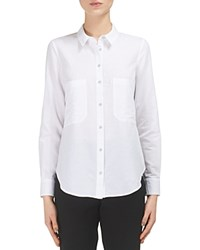 Whistles Amy Button Up Shirt White