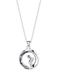 Disney Pooh Engraved Pendant Necklace In Sterling Silver