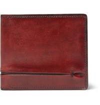 Berluti Burnished Leather Billfold Wallet Red