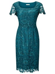 Jacques Vert Lace Layer Dress Green
