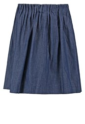 Bzr Lindy Mini Skirt Dark Navy Dark Blue