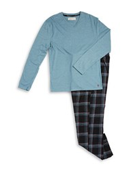 Original Penguin Flannel Pajama Set Angel Blue