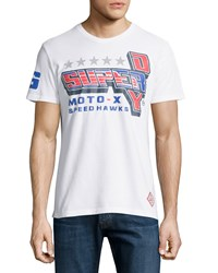 Superdry Graphic Racing Tee Optic White