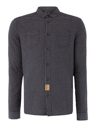 Label Lab Popper Mini Check Shirt Grey