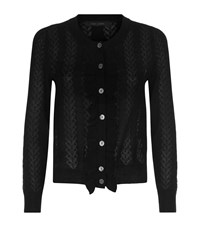 Marc Jacobs Ruffled Pointelle Cardigan Female Black