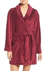 Dkny Women's Chenille Robe Cranberry