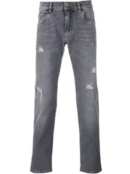 Dolce And Gabbana Distressed Jeans Grey