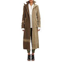 Greg Lauren Women's Vintage Military Blanket Tent Batman Long Coat Grey