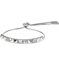Carat Bermuda Morrision White Gold Plated And Diamante Bracelet