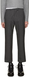 Nanamica Grey Wool Pinstripe Trousers