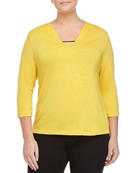 Lafayette 148 New York Three Quarter Sleeve Ruched Top Couscous