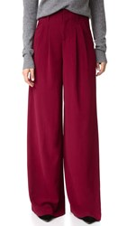 Alice Olivia Eloise Wide Leg Trousers Bordeaux