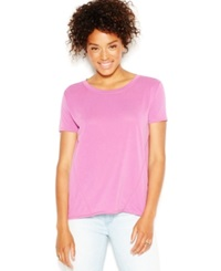 Rachel Rachel Roy Short Sleeve Split Back Blouse Fuchsia