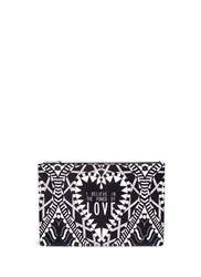 Givenchy 'Power Of Love' Large Slogan Print Zip Pouch Multi Colour