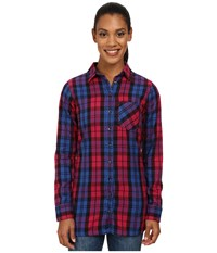 Mountain Khakis Penny Plaid Tunic Shirt Sangria Women's Blouse Red