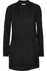 Helmut Lang Washed Crepe Tunic Black
