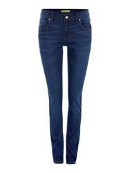Versace Jeggings With Sparkle Pockets Denim Dark Wash