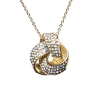 Mikey Round Bow Necklace