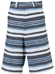 Agi And Sam Striped Shorts Blue