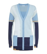 Escada Sport Colour Block Lurex Cardigan Female Multi
