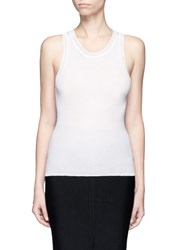 Alexander Wang Scoop Neck Rib Knit Tank Top White