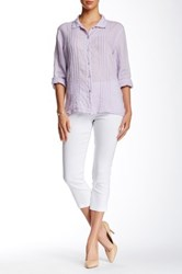 Insight Solid Techno Pull On Cropped Pant White