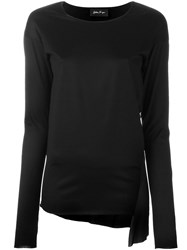 Andrea Ya'aqov Sheer Panel Top Black