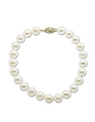 Lord And Taylor 14 Kt. Yellow Gold Freshwater Pearl Strand Bracelet Pearl Gold