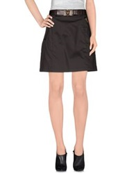 Prada Mini Skirts Dark Brown