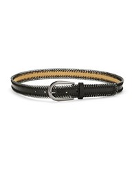 Fashion Focus Leather And Chainlink Belt Black