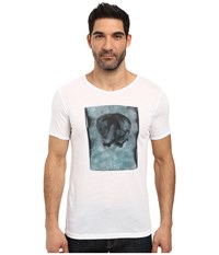 Hugo Driple Short Sleeve Crew Artistic Graphic White Men's Clothing