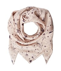 The Kooples Silk Chiffon Print Scarf Nude Scarves Beige