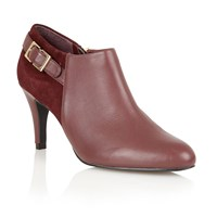 Lotus Mist High Heel Shoe Boots Red