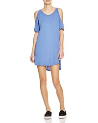 Lna Ella Cold Shoulder Dress Summer Blue