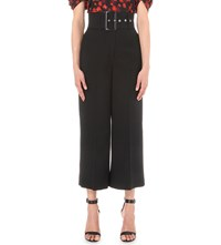 Givenchy Belted Wide Leg Wool Culottes Black
