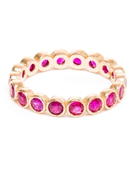 Jagga 18Kt Gold And Rubies Ring Red