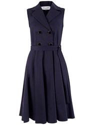 Closet Double Breasted Button Dress Navy