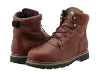 John Deere 6 Lace Up Steel Toe Brown Walnut Men's Work Lace Up Boots