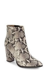 Seychelles Women's 'Accordian' Bootie Women Black White Print Leather