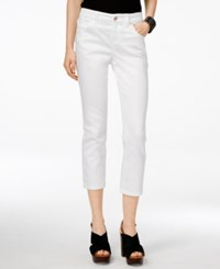 Inc International Concepts Cropped White Wash Jeans Only At Macy's White Denim