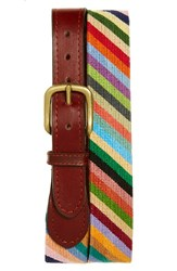Men's Smathers And Branson 'Parson Stripe' Needlepoint Belt