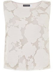 Mint Velvet Ivory Floral Burnout Shell Top