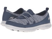Skechers Go Step Sway Navy Gray Women's Lace Up Casual Shoes Blue